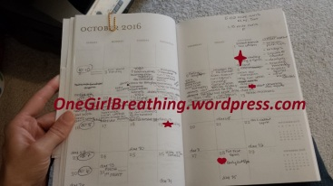 Still working on filling in this month and getting it done!